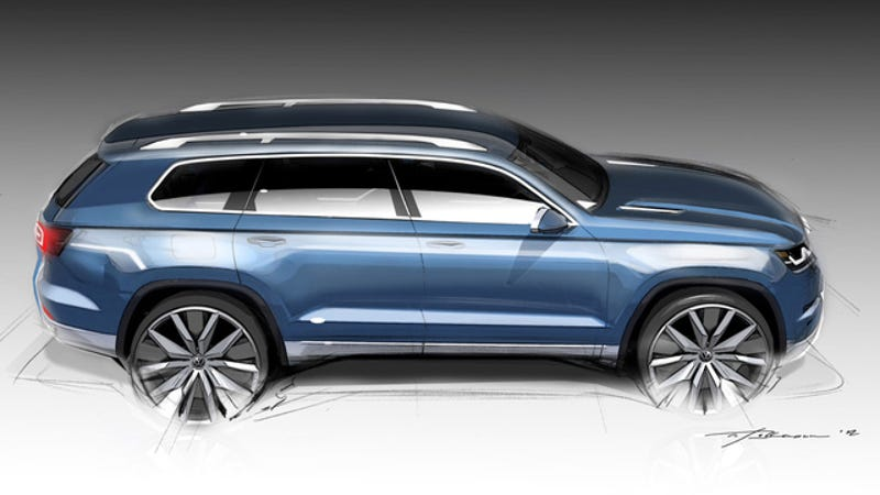 Illustration for article titled Meet Volkswagen's Gigantic New Family-Hauling Crossover