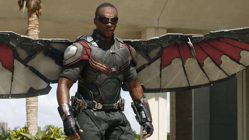 Anthony Mackie as the Falcon.