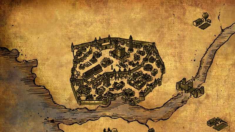 Baldur's Gate as depicted on the in-game map. How quaint.