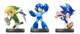 Illustration for article titled New Amiibo Figures Include Wind Waker Link, Mega Man & Sonic