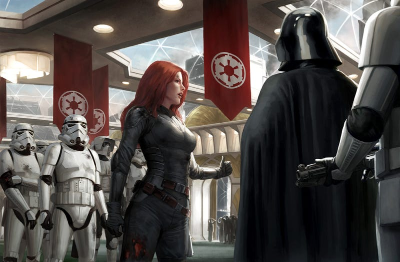 Illustration for article titled Do not underestimate the awesome power of this Star Wars art
