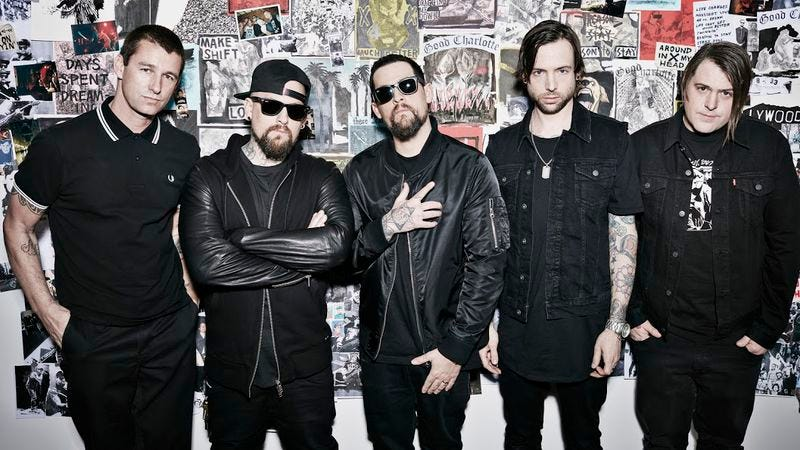 Good Charlotte, Benji Madden second from left (Photo: Justin Coit)