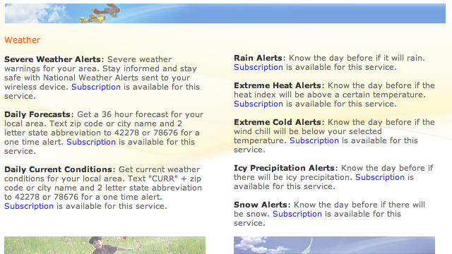 Weather com SMS Alerts Give You the Jump on Snow or Rain