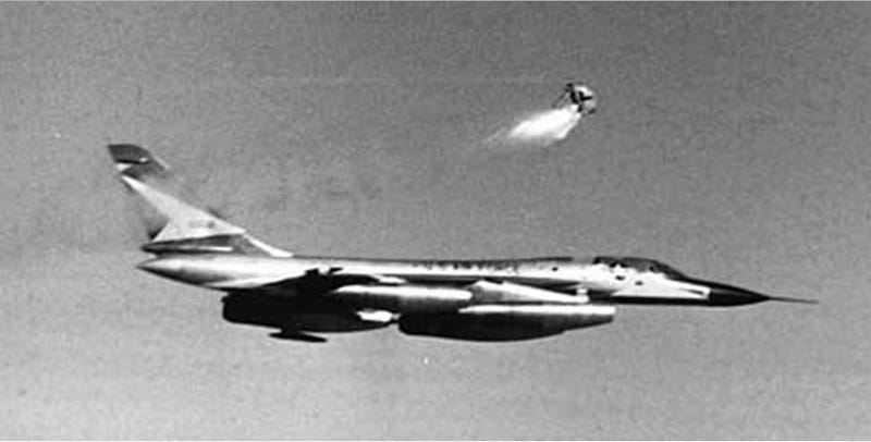 Illustration for article titled The time the Air Force shot a bear out of a B-58 [Wingspan]