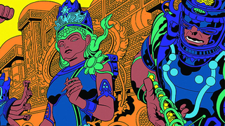 Illustration for article titled See Jack Kirby's Incredible Argo Art In Color For The First Time