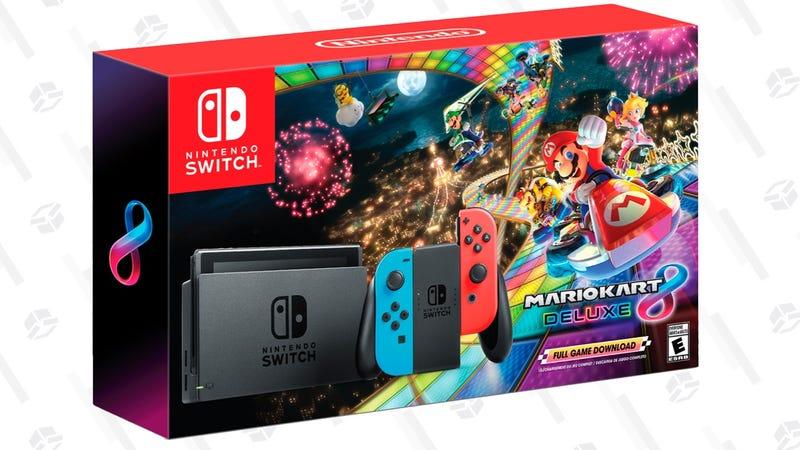 Nintendo Switch + Mario Kart 8 Deluxe | $300 | Walmart | Also at Amazon