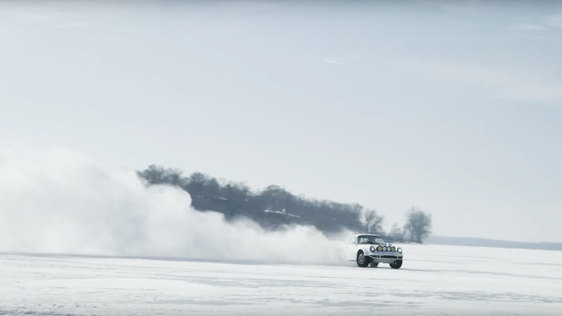 Illustration for article titled I Got All New Life Goals When I Saw This Rally Porsche On A Frozen Lake