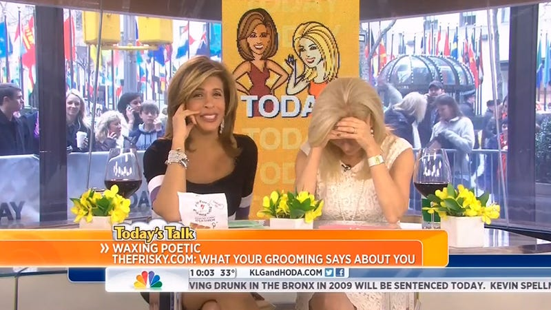 Illustration for article titled In Which Hoda Kotb Discusses the Shape of Her Pubic Hair on Live TV
