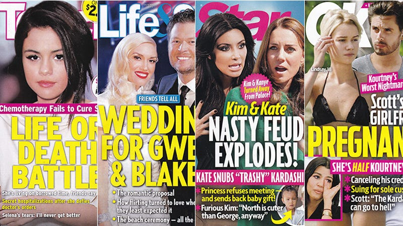 Illustration for article titled This Week in Tabloids: Kim Kardashian and Kate Middleton Hate Each Other, Which Makes Sense