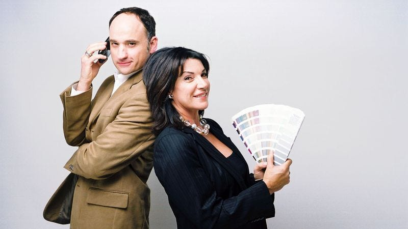 Hosts David Visentin and Hilary Farry