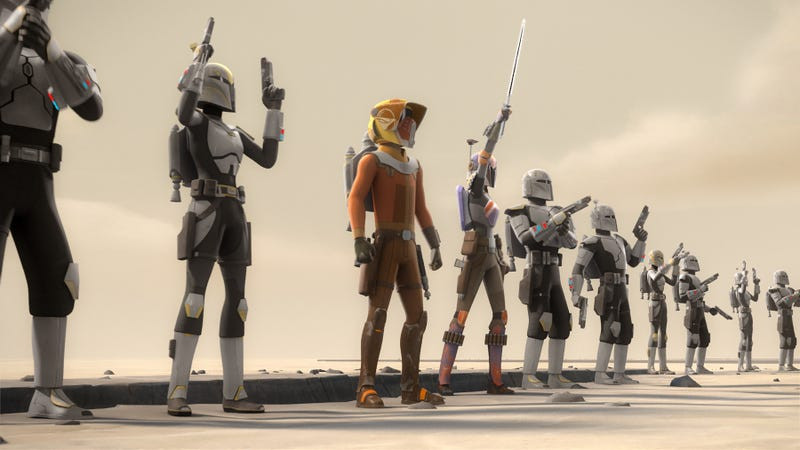 Illustration for article titled A little breathing room gives life to the premiere of Star Wars Rebels' final season