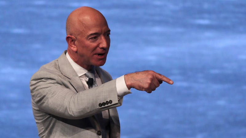 Jeff Bezos during the JFK Space Summit at the John F. Kennedy Presidential Library in Boston on June 19, 2019.