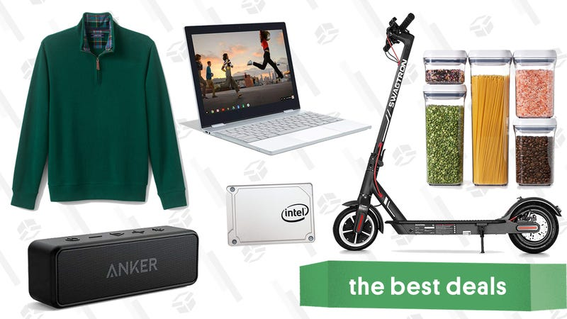 Illustration for article titled Tuesday's Best Deals: Pixelbook, Instant Pot Accessories, Swagtron Scooter, and More