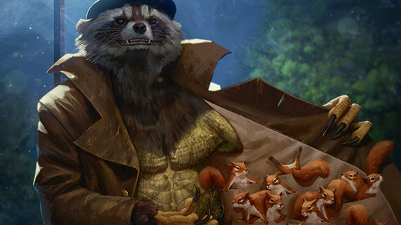 Image: Hasbro/Wizards of the Coast. Squirrel Dealer art by Bram Sels.