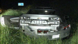 Illustration for article titled See What A Stolen Rental Camaro Looks Like After A 150 MPH Police Pursuit