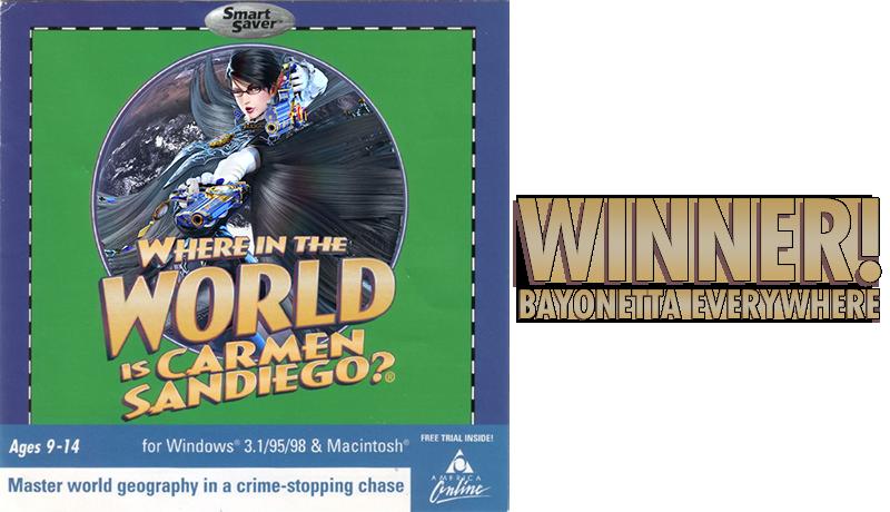 Illustration for article titled Kotaku'Shop Contest:BayonettaEverywhere: Winners!