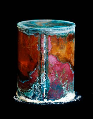 Illustration for article titled Surprisingly beautiful photographs of decaying cans of human remains