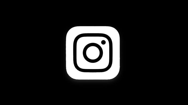 Image Gallery new instagram logo black