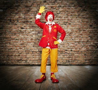Illustration for article titled Press Release Touting Newer, Hipper Ronald McDonald Is Batshit Crazy