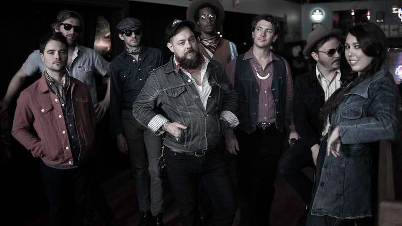 Rateliff, center, with The Night Sweats
