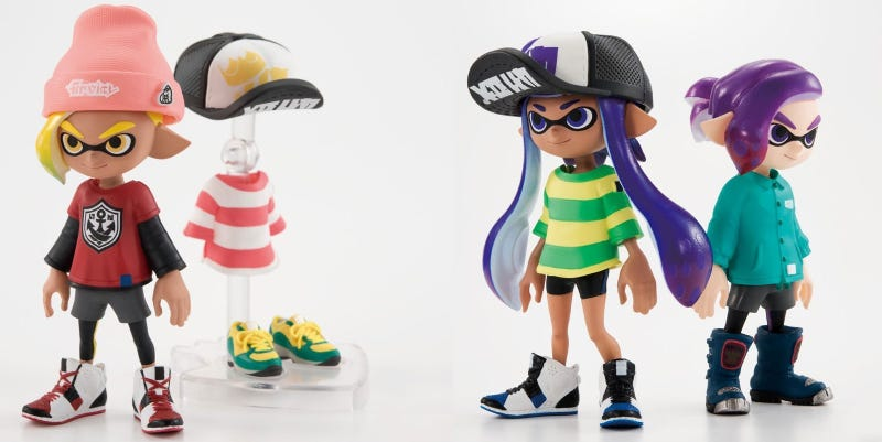 Illustration for article titled Wait, There Are Splatoon Dress-Up Figures?