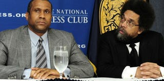 Tavis Smiley and Cornel West at the National Press Club in 2012 (Karen Bleier/AFP/Getty Images)