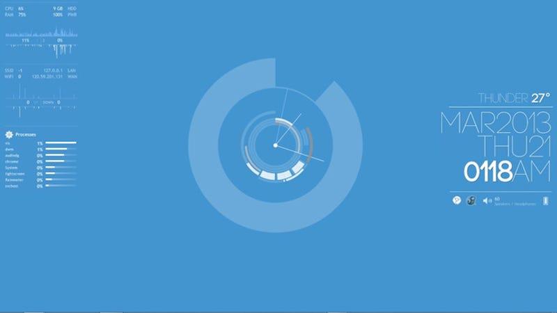 Illustration for article titled The Clean Blue Desktop