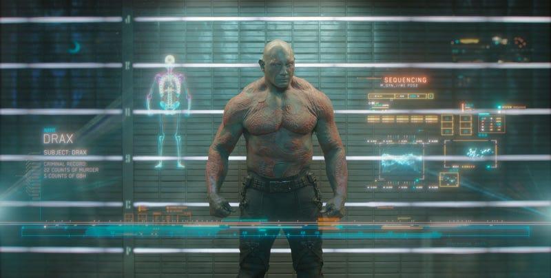 Illustration for article titled Dave Bautista podría abandonar Guardianes de la Galaxia 3tras el despido de James Gunn