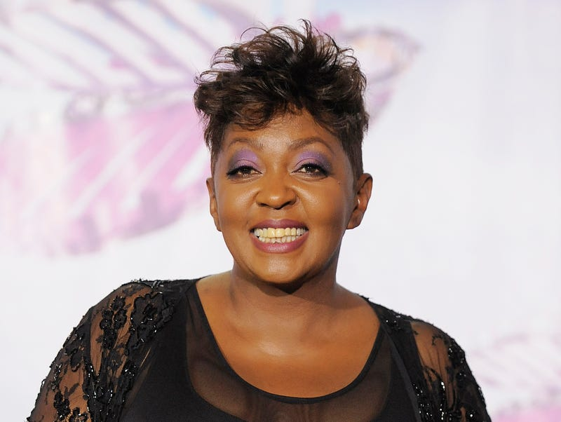 Anita Baker backstage at the BET Awards in Los Angeles in 2011