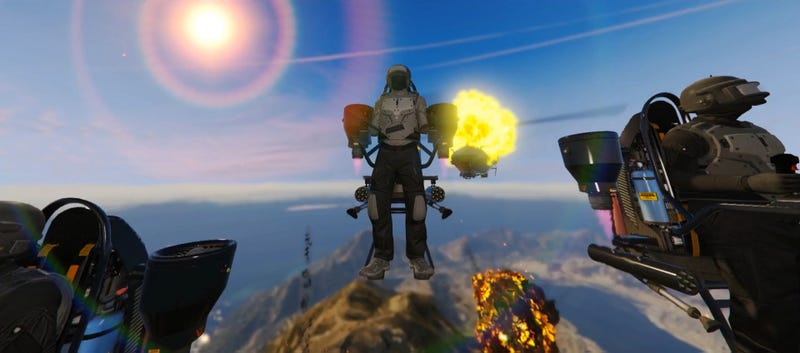 Illustration for article titled GTA Online's Doomsday HeistsTakes Players Inside Mount Chilliad (With Jetpacks)