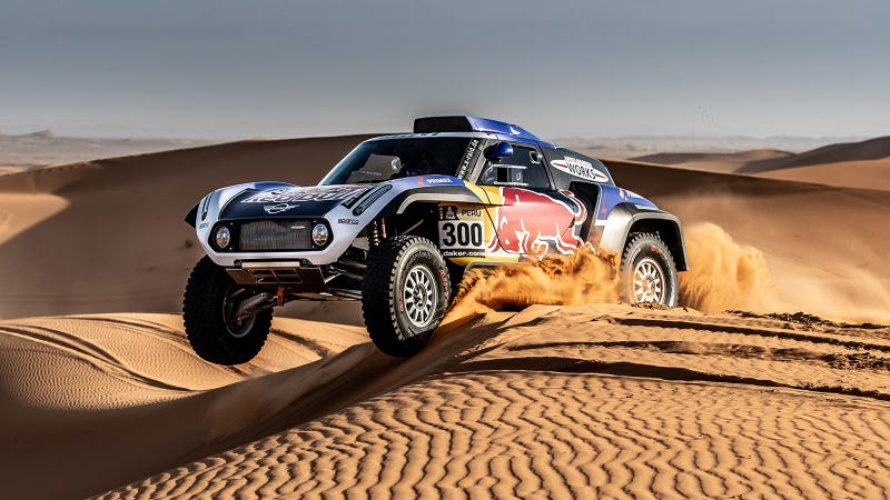 An X-Raid Mini at a shakedown in Morocco
