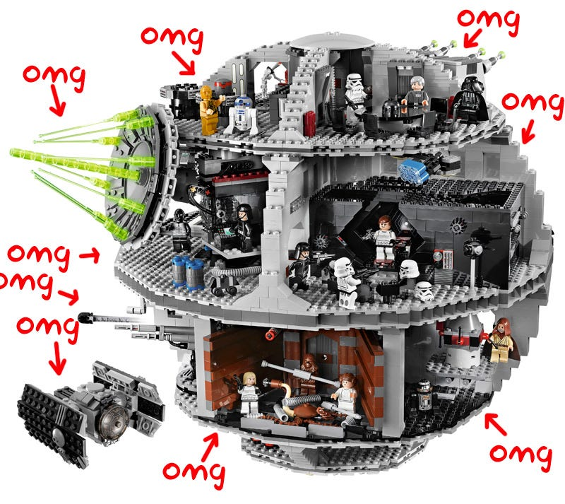 Illustration for article titled 3,800-Piece Death Star Diorama Is Coolest Star Wars Lego Ever