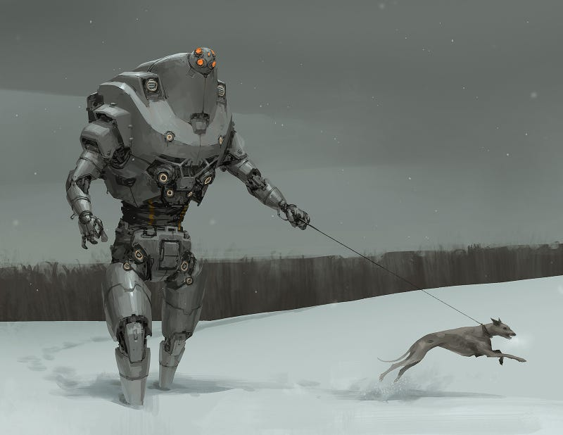 Illustration for article titled After The War Ended, Engineering Drones Were Repurposed As Dogwalkers