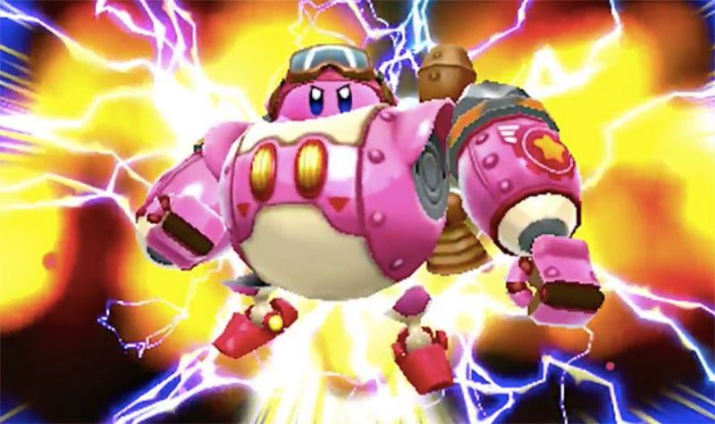 Illustration for article titled New 3DS Game Lets You Play As Kirby In A Mech Suit
