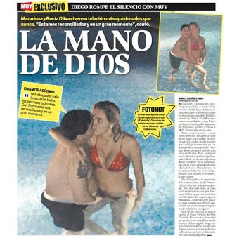 Illustration for article titled Diego Maradona Shows Off Another Use For The Hand Of God