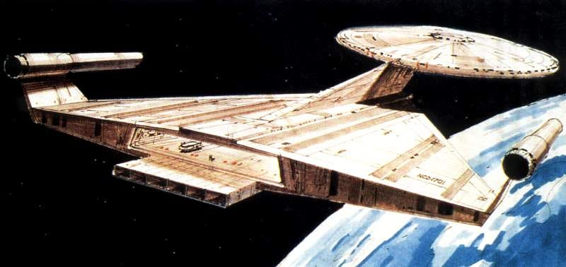 Illustration for article titled Ralph McQuarrie's concept art for a Star Trek movie in 1976-1977