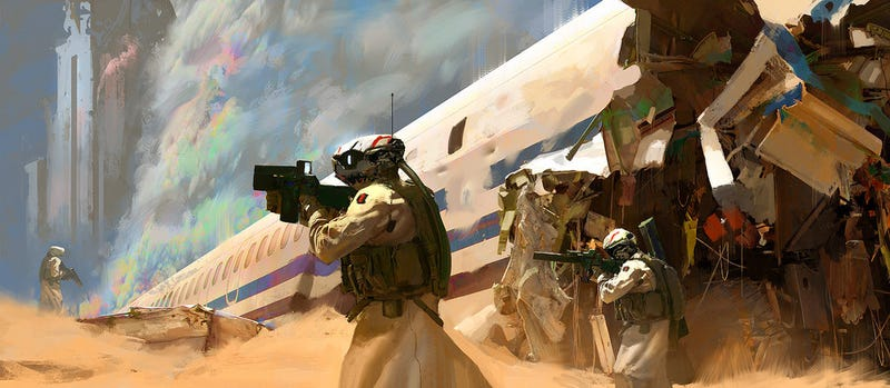 Illustration for article titled Concept Art Writing Prompt: Recon Mission