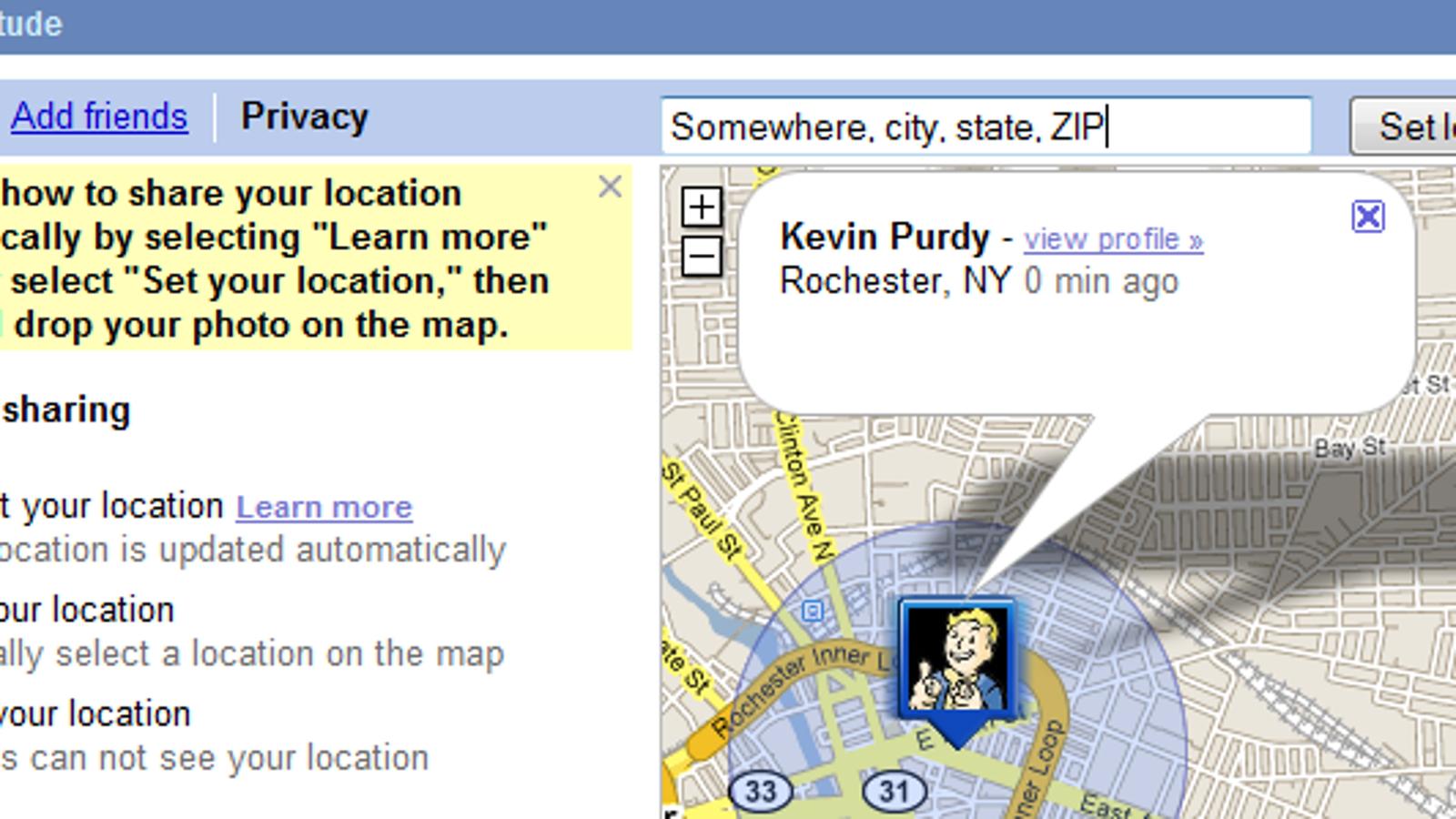 Blackberry google latitude not updating location