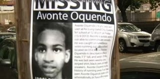 "NBC News screenshot of ""Missing"" poster of Avonte Oquendo"