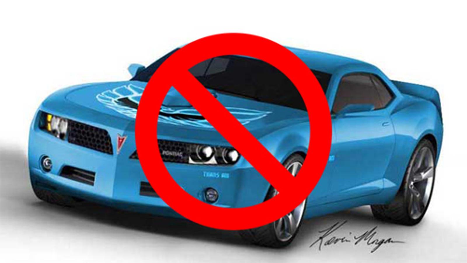 No New Pontiac Trans Am, GM To Scale Back