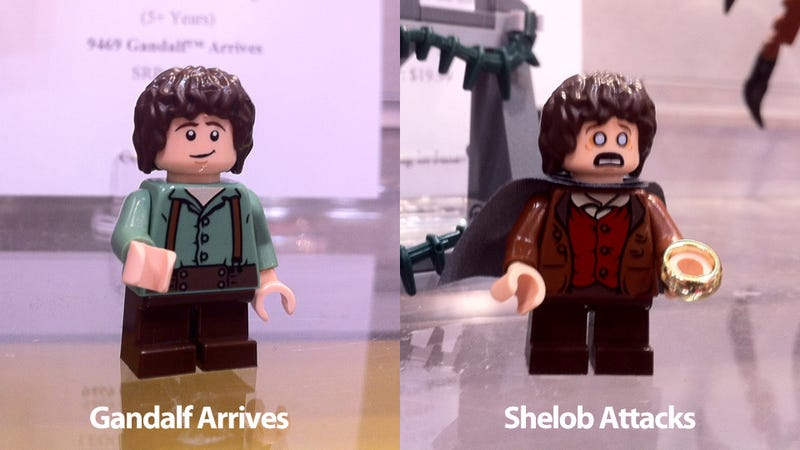 Illustration for article titled The Two Faces of Lego Frodo—Plus My Precious Gollum Minifig