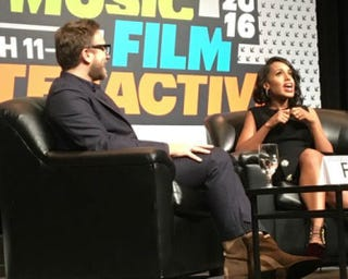 Ariel Foxman and Kerry Washington discuss social media at the South by Southwest festival in Austin, Texas, on March 13, 2016.Sherrell Dorsey/The Root