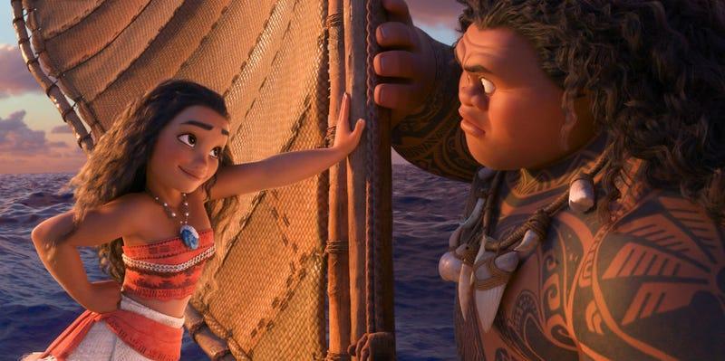 Moana schools Maui in Disney's Moana. All Images: Disney