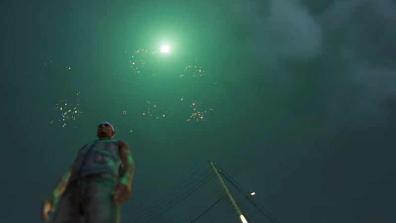 Fireworks in Watch Dogs 2, screencap via YouTuber Nate152. Watch his whole video to hear how noisy they were.