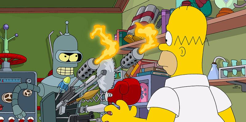 Illustration for article titled La intro de Simpsorama, el genial crossover de los Simpson y Futurama