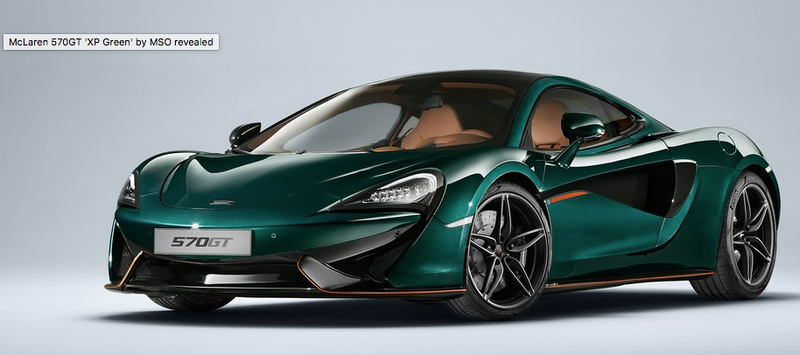 """Illustration for article titled McLaren 570GT """"XP Green"""" by MSO"""