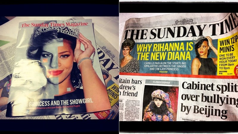 Illustration for article titled Camille Paglia Compares Rihanna to Princess Diana
