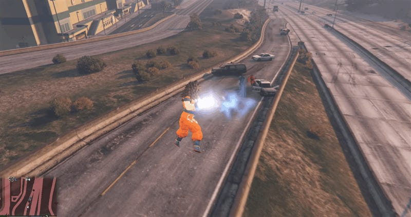Mod Adds Goku (And All His Powers) To Grand Theft Auto V