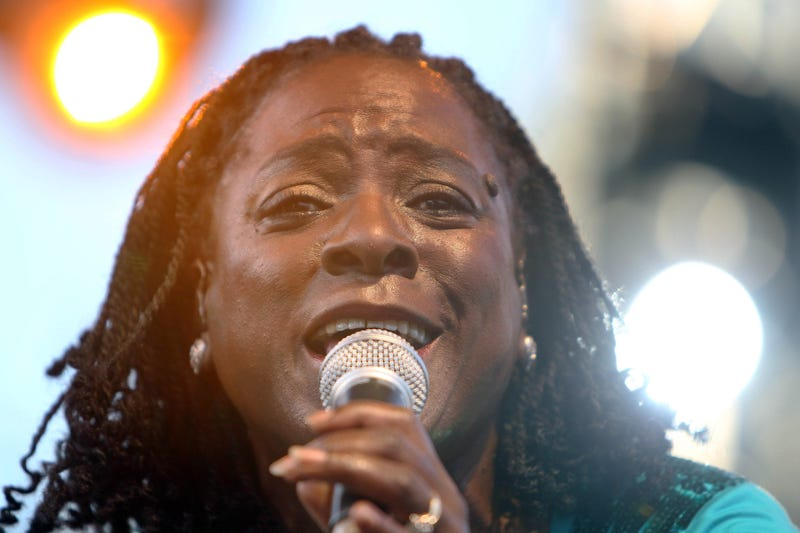 Sharon Jones onstage in Nice, France, July 17, 2010 VALERY HACHE/AFP/Getty Images