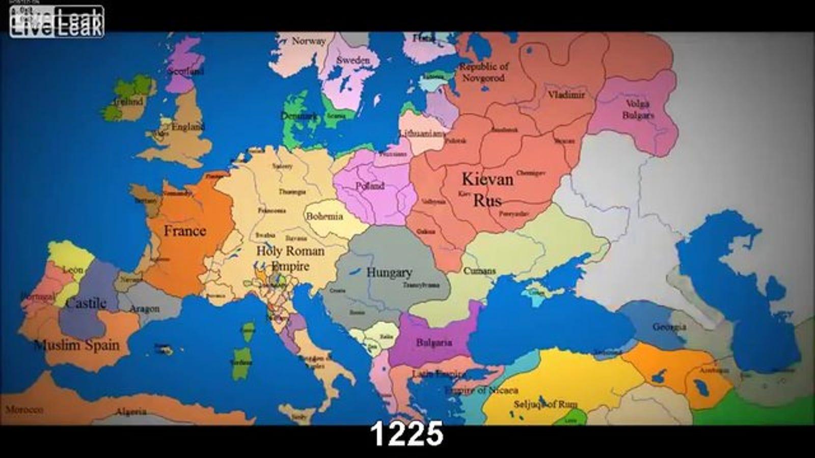 Cómo han cambiado las fronteras europeas en 800 años, en un solo vídeo